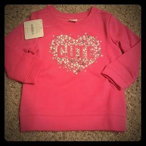 Gymboree baby girl fleece lined sweatshirt